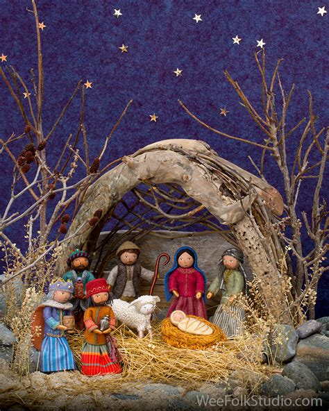 nativity scene photo shoot salley mavor