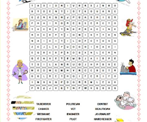 printable word search jobs jobs wordsearch