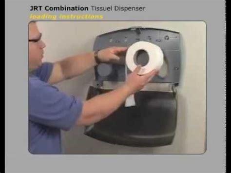 porta chagne jrt clark toilet tissue dispenser loading