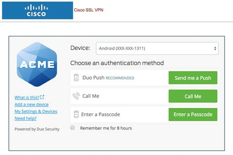 two factor authentication for cisco asa ssl and ipsec vpns