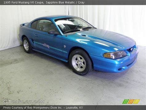 1995 ford mustang v6 sapphire blue metallic 1995 ford mustang v6 coupe gray