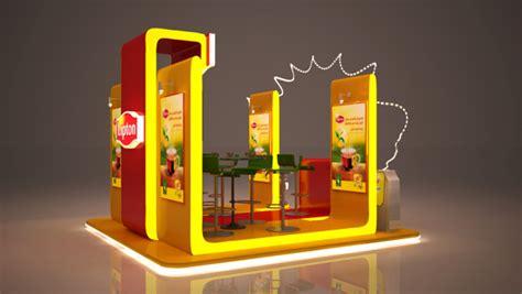 3d booth design tutorial lipton booth on behance