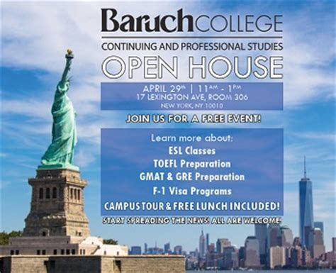 Baruch Open House Mba by Free Open House And Lunch At Baruch College Caps 4 26