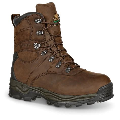 mens insulated waterproof boots rocky s sport utility pro insulated waterproof
