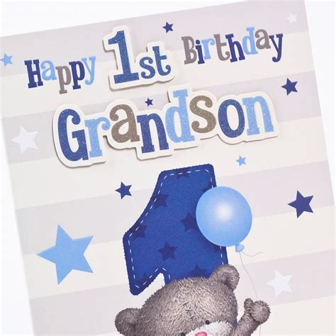 Birthday Card For Grandson 1st Birthday Hugs 1st Birthday Card Grandson Only 163 1 49