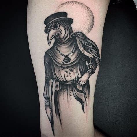 plague doctor tattoo 10 ominous blackwork plague doctor tattoos tattoodo