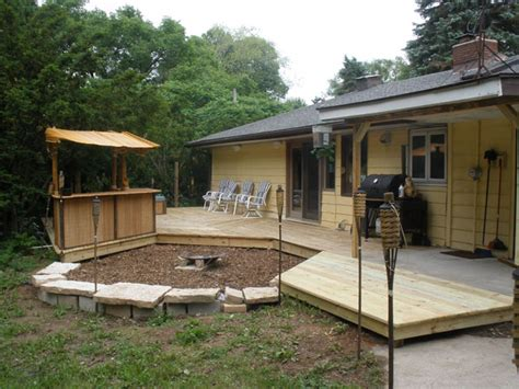 backyard patios and decks project milwaukee deck and patio