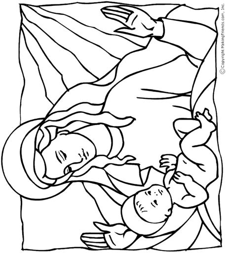 preschool coloring pages of baby jesus baby jesus coloring page