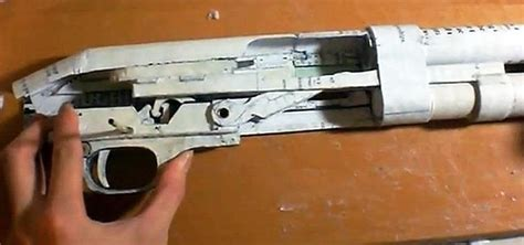 How To Make Paper Shotgun - fully functional diy shotgun made out of paper