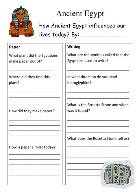 printable art history test ancient egypt worksheet
