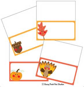 thanksgiving cards to print the sassy pack rat thanksgiving place card printable freebie