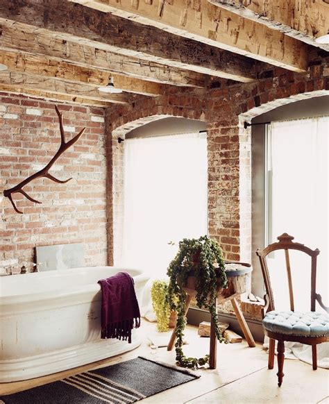 Rustic Walls And Ceilings by 33 Cool Bathrooms With Brick Walls And Ceilings Interior God