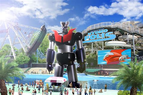 theme park anime crunchyroll toei jokes about quot mazinger z quot theme park