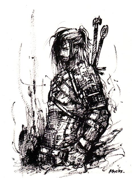 Witcher 3 Sketches by Geralt From Witcher Ink Sketch By Mycks On Deviantart