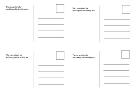 postcard template by trixie159 teaching resources tes