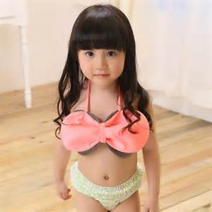 2014 new children swimwear girls two pieces bowknot cute bathing suits