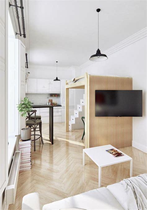 Meuble Gain De Place Pour Studio 2268 by D 233 Co Interieur Petit Studio