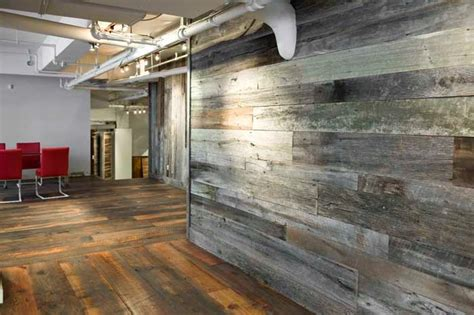 Reclaimed Wood Design Ideas by Rustic Interior Design With Reclaimed Wood Wall Paneling Ideas Gray Reclaimed Oak Wood Material