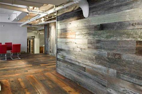Rustic Interior Design with Reclaimed Wood Wall Paneling