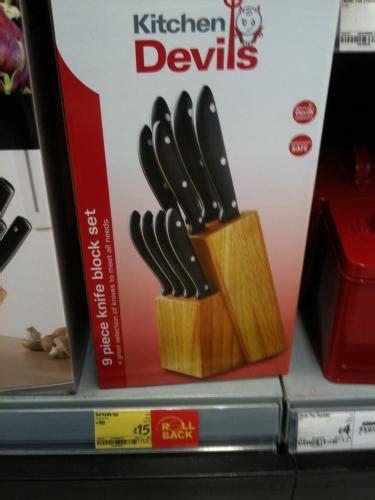 kitchen devil knives set kitchen devils 9 piece knife block set 163 15 instore asda