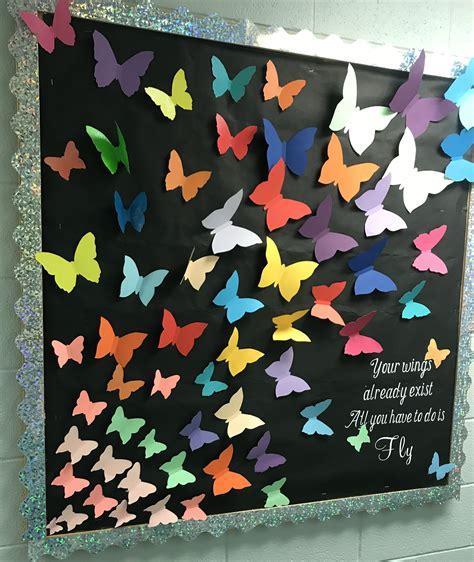 butterfly bulletin board bulletin board classroom