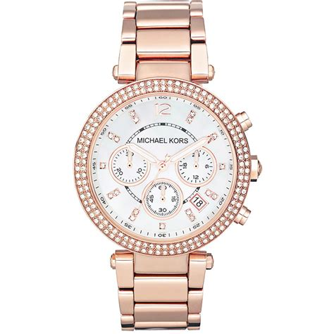 Michael Kors Ohrstecker Rosegold by Authentic Michael Kors Mk5491 Rosegold At Modaqueen