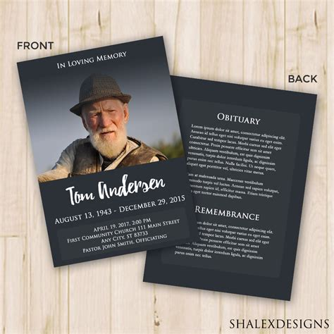 funeral programs templates funeral program template funeral program for memorial order