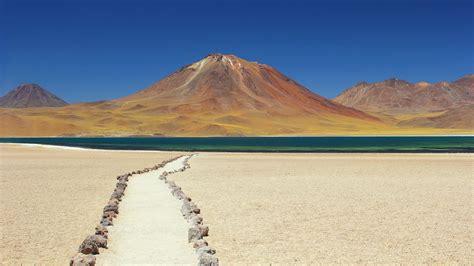 marked hiking trails  desert san pedro de atacama