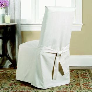 Slip Cover Chairs Sure Fit Cotton Duck Natural Full Dining Room Chair