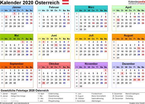 Kalender 2018 Zum Ausdrucken Und Bearbeiten Kalender 2020 214 Sterreich Zum Ausdrucken Als Pdf