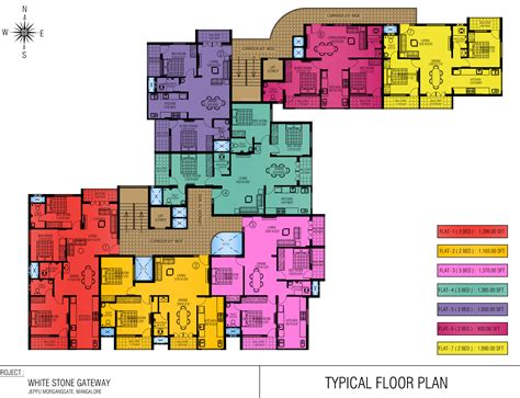 gateway floor plan 1215 sq ft 2 bhk 2t apartment for sale in white stone
