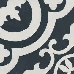 Shop the reserve cementina black and white ceramic floor and wall tile common 8 in x 8 in