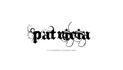 patricia tattoo name designs