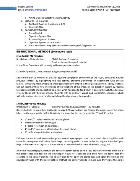 biology lesson plan template sle lesson plan in biology high school semi detailed