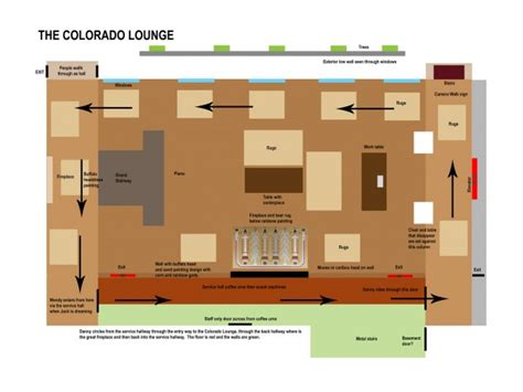 layout of the stanley hotel kubrick s the shining closing day