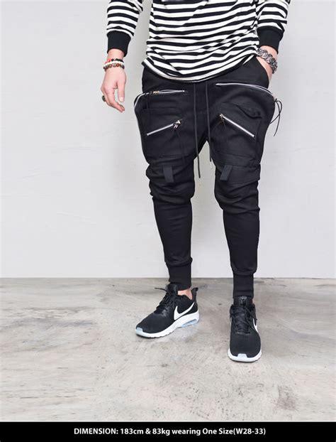 Jogger Semi zipper front pocket mens black semi baggy jogger sweat by guylook ebay