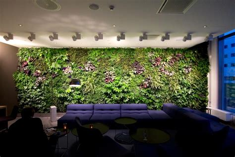 Modern Indoor Residential Vertical Gardens Office Waiting Garden Feature Wall Ideas
