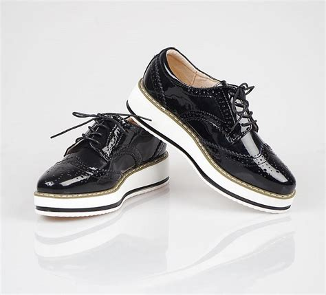 Genuine Leather Brogue Oxfords ygf genuine leather flats platform shoes classic