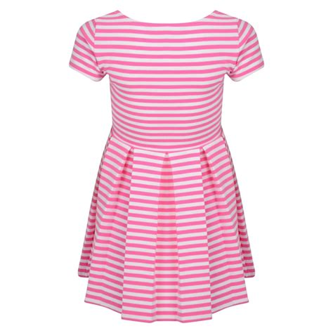 skirt with logo ralph lauren girls pink and white striped dress with pink