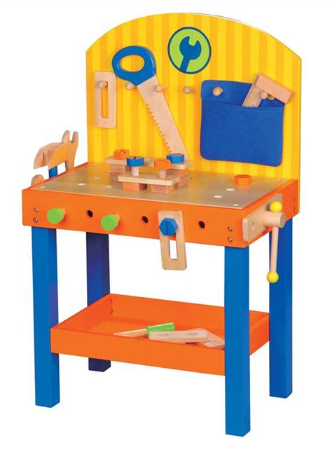 toddler tool benches lelin children kids 30 pieces wooden carpenter builder