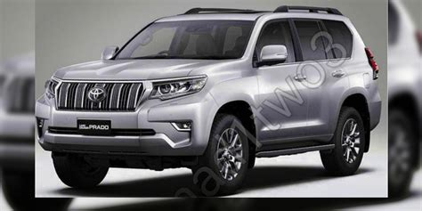 land cruiser prado car 2018 toyota prado facelift leaked update photos 1 of 8