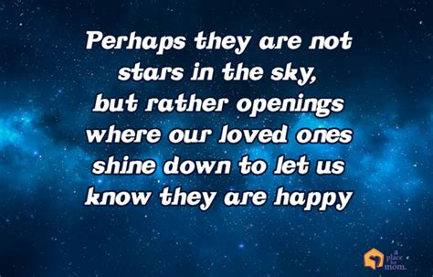 inspirational quotes stars   sky  place  mom
