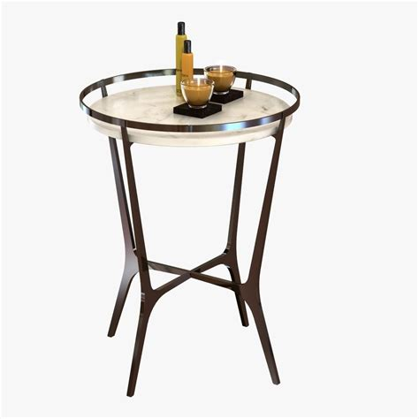 drink table chloe drink table by holly hunt 3d model cgtrader com