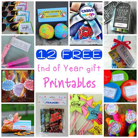 printable end of year gift tags 12 end of the year classmate gift free printables