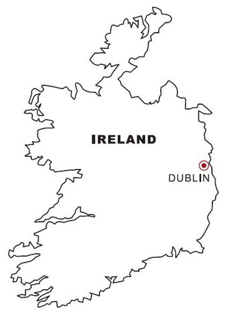 ireland coloring pages ireland map coloring color area