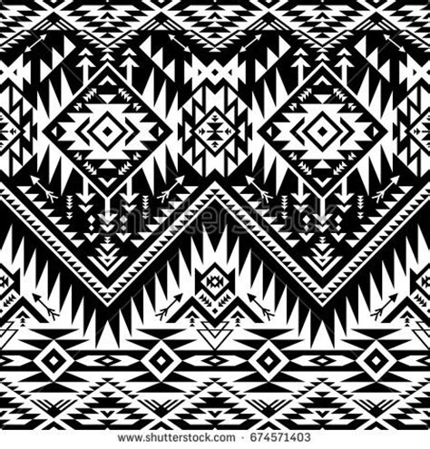 tribal pattern black and white wallpaper seamless black white aztec print pattern stock vector
