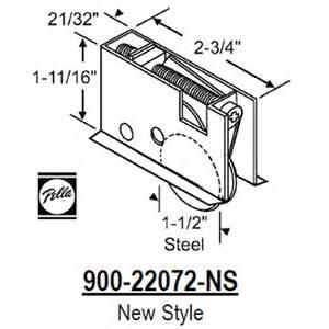 Pella Patio Door Replacement Parts Pella Pella Patio Door Roller 900 22072 Ns