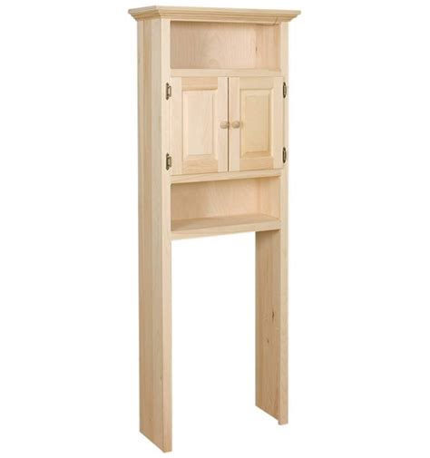 Wood Bathroom Storage Cabinets Traditional Bathroom With 27 Inch Etagere The Toilet Cabinet And Pine Wood Material Frame