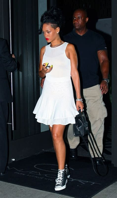 rihanna sport shoes my of a dress with sneakers best looks
