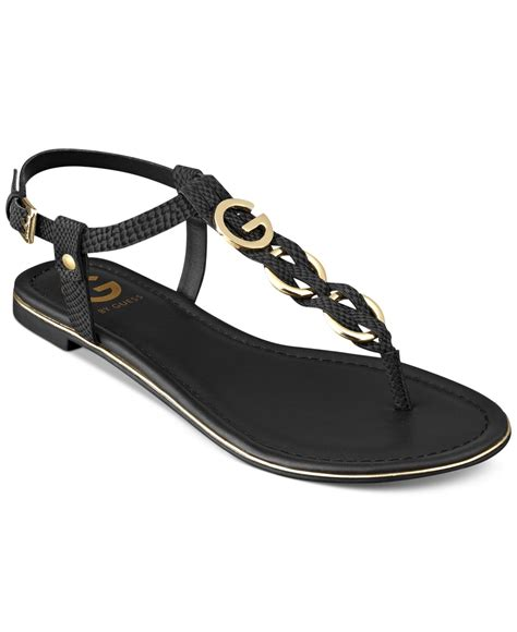 guess flat sandals g by guess s dahlia braided t flat sandals in